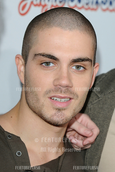 Max from The Wanted poses for photographers before going on stage for the Jingle Bell Ball 2010 at the O2 Arena, London. 05/12/2010  Picture by: Steve Vas / Featureflash
