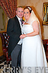 Yvonne Greaney, Listowel daughter of Pat and Betty Greaney and Mike McElligott son of Denis and Nora McElligott were married at Irremore Church Listowel by Fr. Gerard O'Connell. The Couple held their reception at Ballyroe Heights Hotel on Friday