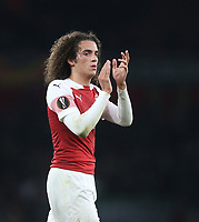Arsenal's Matteo Guendouzi<br /> <br /> Photographer Rob Newell/CameraSport<br /> <br /> UEFA Europa League Group E - Arsenal v Sporting CP - Thursday 8th November 2018 - Arsenal Stadium - London<br />  <br /> World Copyright © 2018 CameraSport. All rights reserved. 43 Linden Ave. Countesthorpe. Leicester. England. LE8 5PG - Tel: +44 (0) 116 277 4147 - admin@camerasport.com - www.camerasport.com