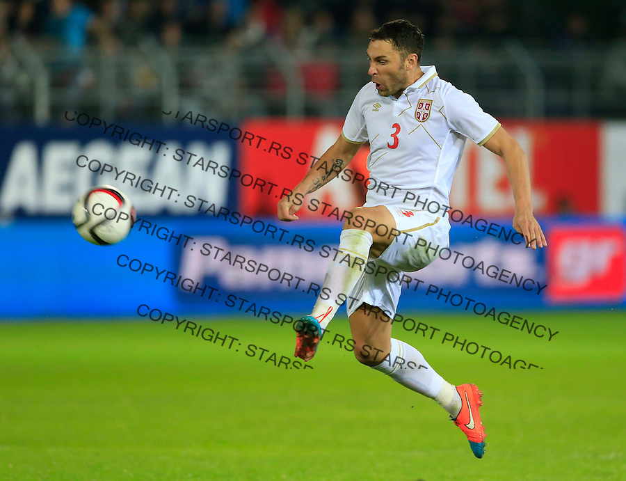 Fudbal<br /> Prijateljski mec-Friendly match<br /> Srbija v Grcka<br /> Dusko Tosic<br /> Chania, 17.11.2014.<br /> foto: Srdjan Stevanovic/Starsportphoto &copy;