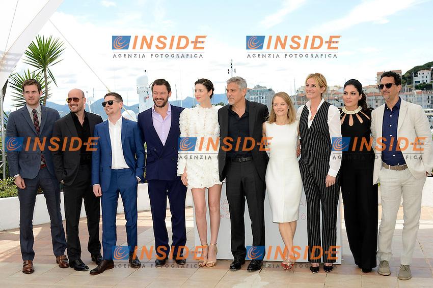 Jamie Linden - Dominic West -  Caitriona Balte - George Clooney - Jodie Foster -  Julia Roberts - Lara Alameddine<br /> Festival di Cannes 2016 <br /> Foto Panoramic / Insidefoto
