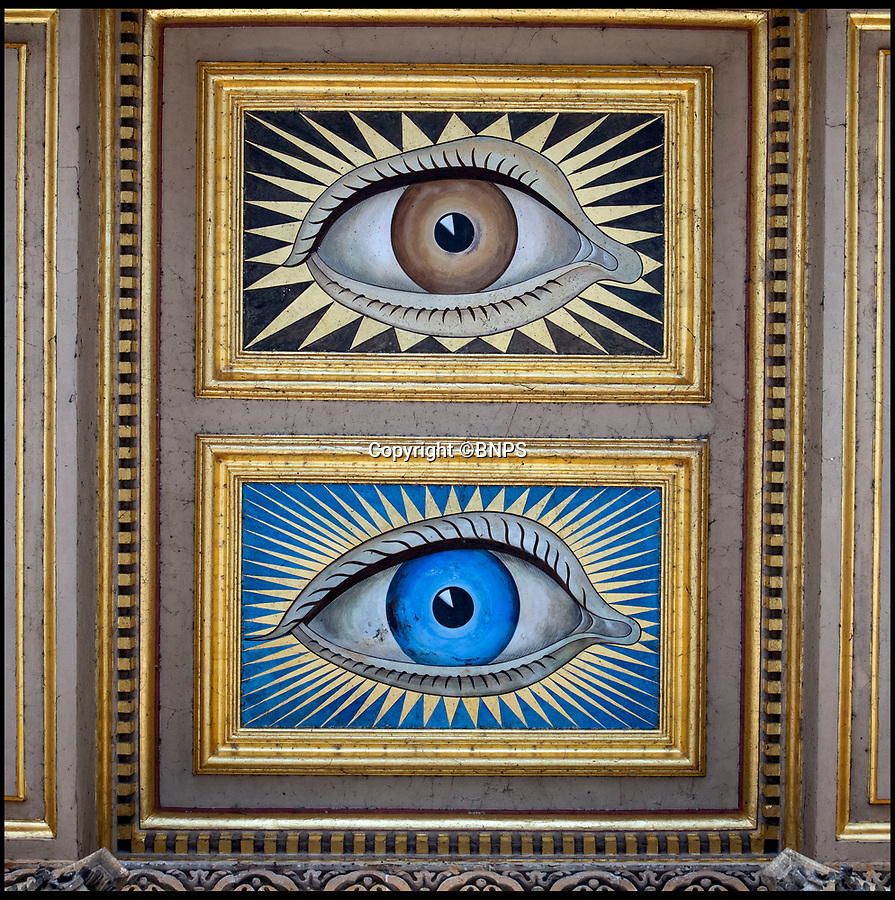 BNPS.co.uk (01202 558833)<br /> Pic: PhilYeomans/BNPS<br /> <br /> During the early days of the marriage the besotted Duke had the ceiling of the portico of Blenheim painted with Gladys striking blue eyes alongside his own.<br /> <br /> The 'Most beautiful woman in the world' finally return's to Blenheim Palace.<br /> <br /> The treasured painting kept by a Duchess of Blenheim once described as 'the most beautiful woman in the world' through her declining years has finally returned to the Oxfordshire Palace 103 years after it was painted.<br /> <br /> American Gladys Deacon married the 9th Duke of Marlborough in 1921, five years after her portrait was painted in Paris by Italian artist Giovanni Boldini.<br /> <br /> But the marriage became troubled and the Duke finally evicted Gladys from the Palace in the ealy 1930's, she then became an eccentric recluse, before finally ending her days in a psychiatric hospital.<br /> <br /> When evicted Gladys took a few treasured possessions with her, including a statue given her by Rodin, and this glamorous portrait from her stunning younger days.