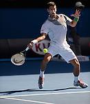 Novak Djokovic (SRB) defeats Fabio Fognini (ITA) 6-3, 6-0, 6-2