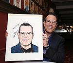 Michael Mayer during the Michael Moore And Michael Mayer portrait unveilings as the join the Wall of Fame at Sardi's on September 21, 2017 at Sardi's in New York City.