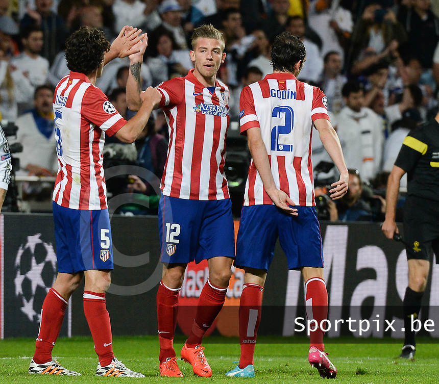 20140524 - LISBON , PORTUGAL : Atletico's Toby Alderweireld pictured during soccer match between Real Madrid CF and Club Atletico de Madrid in the UEFA Champions League Final on Saturday 24 May 2014 in Estadio Da Luz in Lisbon .  PHOTO DAVID CATRY