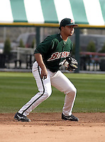 May 3, 2004:  Shortstop Jhonny Peralta of the Buffalo Bisons, International League (AAA) affiliate of the Cleveland Indians, during a game at Dunn Tire Park in Buffalo, NY.  Photo by:  Mike Janes/Four Seam Images