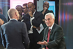 © Joel Goodman - 07973 332324 . 26/09/2016 . Liverpool , UK . CHUKA UMUNNA (3rd from right) watches as JOHN MCDONNELL (r) is interviewed by EVAN DAVIS (left) on Newsnight during the Labour Party Conference at the ACC Conference Centre . Photo credit : Joel Goodman