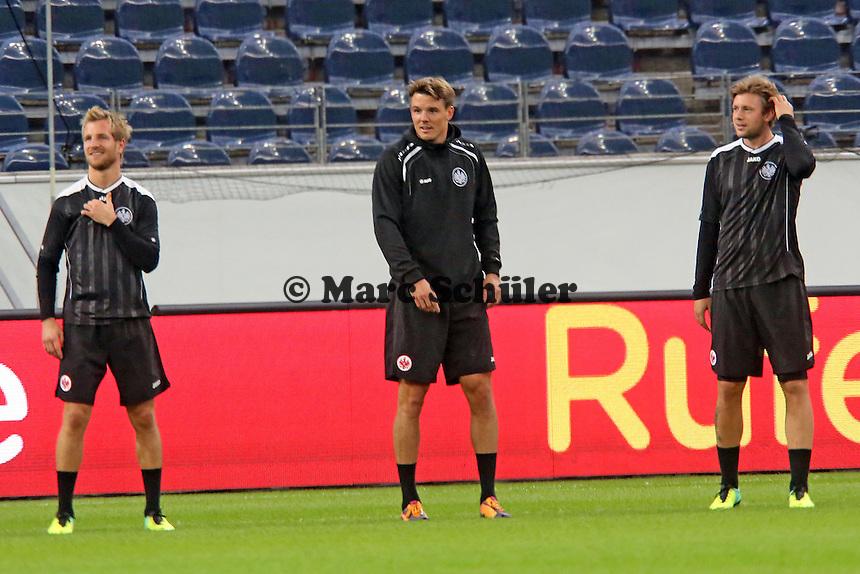 Stefan Aigner, Alex Meier, Marco Russ (Eintracht) - Eintracht Europa League Training