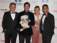 Jeff Brazier, Matt Johnson, Judie McCourt? and Danyl Johnson at the Battersea Dogs &amp; Cats Home Collars &amp; Coats Gala Ball 2018, Battersea Evolution, Battersea Park, London, England, UK, on Thursday 01 November 2018.<br /> CAP/CAN<br /> &copy;CAN/Capital Pictures