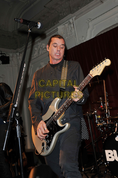 Gavin Rossdale.'Bush' performing live in concert, Bush Hall, Shepherd's Bush, London, England. .20th November 2011.on stage gig performance music half length black jacket guitar jeans denim .CAP/MAR.© Martin Harris/Capital Pictures.