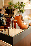 USA, California, San Francisco, shoes for sale at Carrots, North Beach