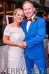 Paula Moylan, from Carlow and Dingle, and Gary Mathers, from Leicester, England, who were married in St. Mary's Church, Dingle, on Saturday afternoon. The reception was held at the Skellig Hotel, Dingle.