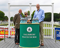 Connections of Glamorous Dream receive their trophy for winning The Molson Coors Handicap (Class 6) during Afternoon Racing at Salisbury Racecourse on 12th June 2018