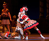The Flames of Paris <br /> Bolshoi Ballet <br /> at The Royal Opera House, Covent Garden, London, Great Britain <br /> 5th August 2016 <br /> rehearsals<br /> <br /> <br /> <br /> Anna Tikhomirova as Mireille de Poitiers an actress <br /> <br /> Artel Ovcharenko as Antoine Mistral as actor <br /> <br /> <br /> <br /> <br /> <br /> Photograph by Elliott Franks <br /> Image licensed to Elliott Franks Photography Services