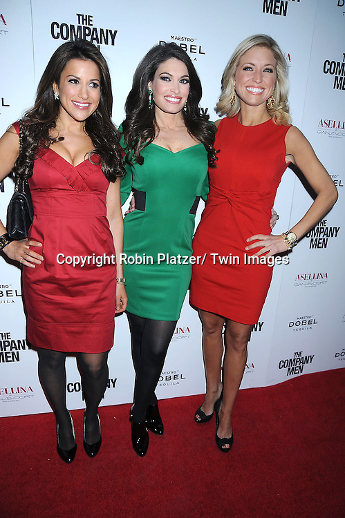 """Gigi Stone, Kimberley Guilfoyle and Ainsley Earhardt attending The New York Screening .of """"The Company Men"""" on December 8, 2010 at The Paris Theatre in New York City. The movie stars Ben Affleck."""