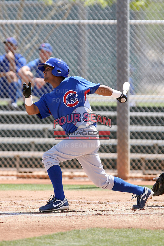 Jose Valdez, Chicago Cubs 2010 minor league spring training..Photo by:  Bill Mitchell/Four Seam Images.