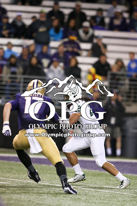 17 September 2016:   Portland State's Zack Floyd against Washington. Washington defeated Portland State 41-3 at the University of Washington in Seattle, WA.