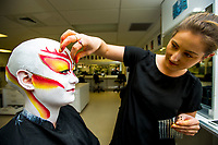 Te Auaha special effects makeup photoshoot at Weltec in Wellington, New Zealand on Wednesday, 31 May 2017. Photo: Dave Lintott / lintottphoto.co.nz