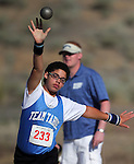Nick Fiegel, from Tahoe, competes in the shot put at the Special Olympics Nevada 2013 Summer Games in Reno, Nev., on Saturday, June 1, 2013. <br /> Photo by Cathleen Allison