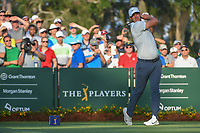 Brooks Koepka (USA) watches his tee shot on 10 during round 1 of The Players Championship, TPC Sawgrass, at Ponte Vedra, Florida, USA. 5/10/2018.<br /> Picture: Golffile | Ken Murray<br /> <br /> <br /> All photo usage must carry mandatory copyright credit (&copy; Golffile | Ken Murray)