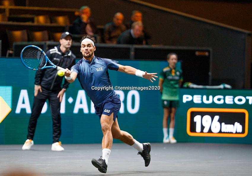 Rotterdam, The Netherlands, 11 Februari 2020, ABNAMRO World Tennis Tournament, Ahoy, <br /> Karen Khachnanov (RUS), Fabio Fognini (ITA).<br /> Photo: www.tennisimages.com