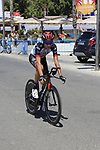 Fabio Aru (ITA) UAE Team Emirates recons the course before Stage 1 of the La Vuelta 2018, an individual time trial of 8km running around Malaga city centre, Spain. 25th August 2018.<br /> Picture: Eoin Clarke | Cyclefile<br /> <br /> <br /> All photos usage must carry mandatory copyright credit (&copy; Cyclefile | Eoin Clarke)