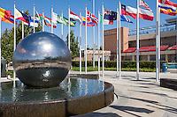 Argyrous Fountain at Chapman University in Orange California