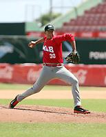 Carlos Caballo participates in the MLB International Showcase at Estadio Quisqeya on February 22-23, 2017 in Santo Domingo, Dominican Republic.