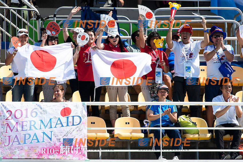 Fans Japan <br /> Duets Technical Routine <br /> Rio de Janeiro 15-08-2016 Maria Lenka Aquatics Center  <br /> Synchronised Swimming <br /> Nuoto Sincronizzato <br /> Foto Andrea Staccioli / Deepbluemedia /Insidefoto