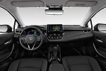 Stock photo of straight dashboard view of a 2019 Toyota Corolla  Premium 4 Door Sedan