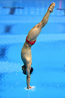 China's Jianfeng Peng competes in the men's 3m Springboard final <br /> <br /> Photographer Hannah Fountain/CameraSport<br /> <br /> FINA/CNSG Diving World Series 2019 - Day 2 - Saturday 18th May 2019 - London Aquatics Centre - Queen Elizabeth Olympic Park - London<br /> <br /> World Copyright © 2019 CameraSport. All rights reserved. 43 Linden Ave. Countesthorpe. Leicester. England. LE8 5PG - Tel: +44 (0) 116 277 4147 - admin@camerasport.com - www.camerasport.com