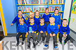 Scoil Cheann Tra pupils on their first day at school.
