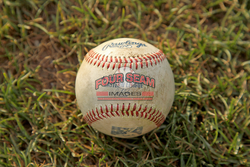 An Eastern League game ball during a game between the Binghamton Mets and New Britain Rock Cats at New Britain Stadium on July 18, 2013 in New Britain, Connecticut. (Brace Hemmelgarn/Four Seam Images)