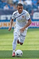 Olimpia midfielder Carlos Will Mejia (7).  AC Milan defeated Olimpia 3-1 at Gillette Stadium on August 4, 2012