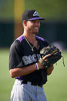 Colorado Rockies Max White (43) during warmups before an instructional league game against the SK Wyverns on October 10, 2015 at the Salt River Fields at Talking Stick in Scottsdale, Arizona.  (Mike Janes/Four Seam Images)