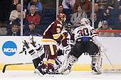 Kelly Zajac (Union - 19), Justin Fontaine (Duluth - 37), Greg Coburn (Union - 20), Keith Kincaid (Union - 30) - The University of Minnesota-Duluth Bulldogs defeated the Union College Dutchmen 2-0 in their NCAA East Regional Semi-Final on Friday, March 25, 2011, at Webster Bank Arena at Harbor Yard in Bridgeport, Connecticut.