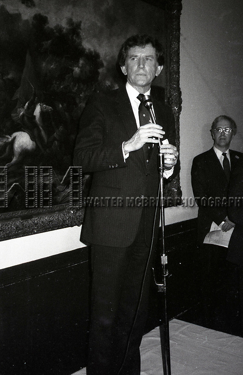Gary Hart attends a Gary Hart Campaign Rally on May 1, 1984 in New York City.