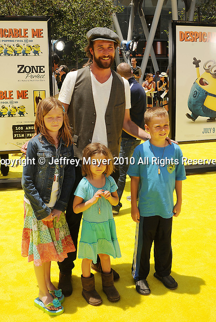"LOS ANGELES, CA. - June 27: Noah Wyle and children arrive at the 2010 Los Angeles Film Festival - ""Despicable Me"" Premiere on June 27, 2010 in Los Angeles, California."