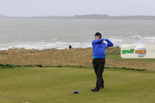 Dale Jackson (Maserreene) during the 36 hole stroke play qualifying on April 3rd 2015 for the 2015 West of Ireland Open Championship, Co. Sligo, Golf Club, Rosses Point, Sligo, Ireland.<br /> Picture: Thos Caffrey / Golffile