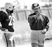 Oakland Raider coach Willie Brown..(1979 photo by Ron Riesterer)