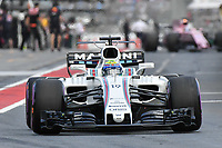 March 25, 2017: Felipe Massa (BRA) #19 from the Williams Martini Racing team leaves the pits for the qualifying session at the 2017 Australian Formula One Grand Prix at Albert Park, Melbourne, Australia. Photo Sydney Low
