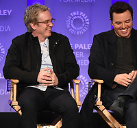 "HOLLYWOOD, CA - MARCH 17: Brannon Braga and Seth MacFarlane at the PaleyFest 2018 - ""The Orville"" panel at the Dolby Theatre on March 17, 2018 in Hollywood, California. (Photo by Scott Kirkland/Fox/PictureGroup)"