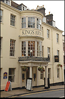 Bmth News (01202 558833)<br /> Pic: Phil Yeomans<br /> <br /> A historic hotel that provided the inspiration for one of author Thomas Hardy's most famous novels has been saved from financial ruin and is to be restored to its former glory.<br /> <br /> The Kings Arms in Dorchester, Dorset, featured prominently in Hardy's 1886 novel The Mayor of Casterbridge, a tale of a drunken man who sells his wife and daughter and is then reunited with them years later when he is a mayor. <br /> <br /> The central character, Michael Henchard, carried out his official business at the Georgian hotel and Hardy went into great detail in his description of the frontage of the iconic building.<br /> <br /> The Grade II listed former coaching inn was closed last year after the company that owned it went into receivership. It was bought by Stay Original Company, which owns and runs a a number of historic boutique hotels in the west country. <br /> <br /> The firm plan to return and restore plenty of its 18th century original features and show what it was like in Hardy's day.