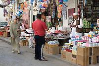 Tripoli, Libya - Street Scene, Vendor and Shop, Medina