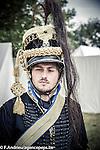 Bivouacs allies of the bicentenary of the Battle of Waterloo in the Farm of Hougoumont. Waterloo, 19 june 2015, Belgium
