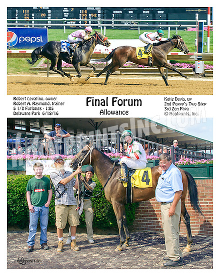 Final Forum winning at Delaware Park on 6/18/16