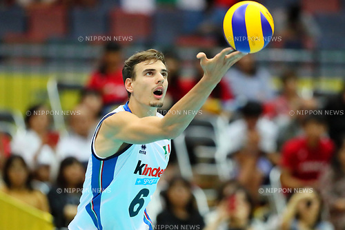 Simone Giannelli (ITA), <br /> SEPTEMBER 16, 2017 - Volleyball : <br /> FIVB World Grand Champions Cup 2017 <br /> men's match between France 1-3 Italy <br /> at Osaka Municipal Central Gymnasium in Osaka, Japan. <br /> (Photo by Naoki Nishimura/AFLO SPORT)