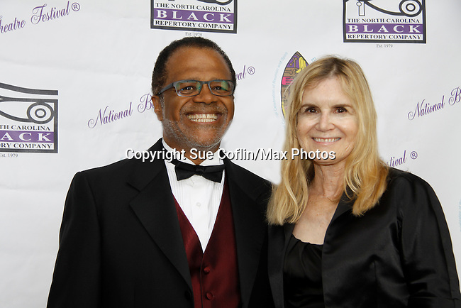 """Love Boat's Ted Lange """"Issac"""" with wife Mary Ley at The National Black Theatre Festival with a week of plays, workshops and much more with an opening night gala of dinner, awards presentation followed by Black Stars of the Great White Way followed by a celebrity reception. It is an International Celebration and Reunion of Spirit. (Photo by Sue Coflin/Max Photos)"""