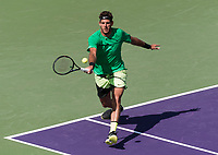 JUAN MARTIN DEL POTRO (ARG)<br /> <br /> MIAMI OPEN, CRANDON PARK, KEY BISCAYNE, FLORIDA, USA<br /> <br /> &copy; TENNIS PHOTO NETWORK