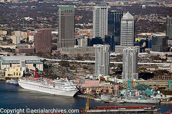 aerial photograph cruise terminal Port of Tampa Florida